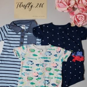 [Carter's] Boy's 12M Short Sleeved Snap Clothes